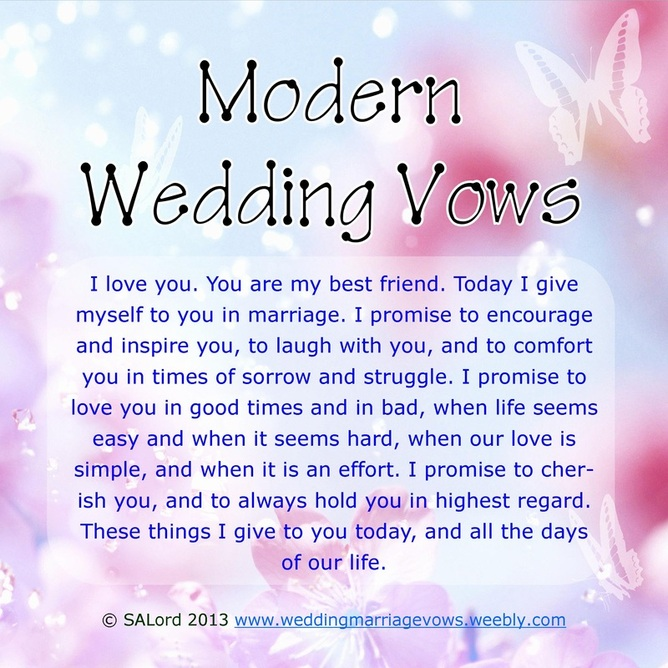 Wedding Vow Examples