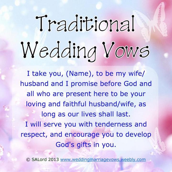wedding vows examples traditional modern funny marriage vow