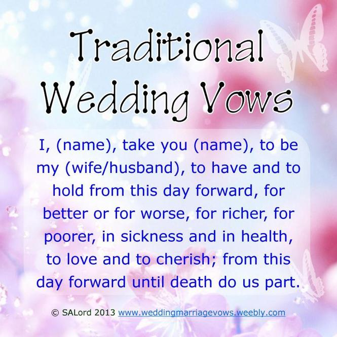 Wedding vows examples traditional modern funny marriage vow traditional wedding vows junglespirit Choice Image